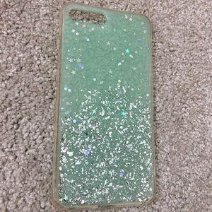 Sparkle blue phone case